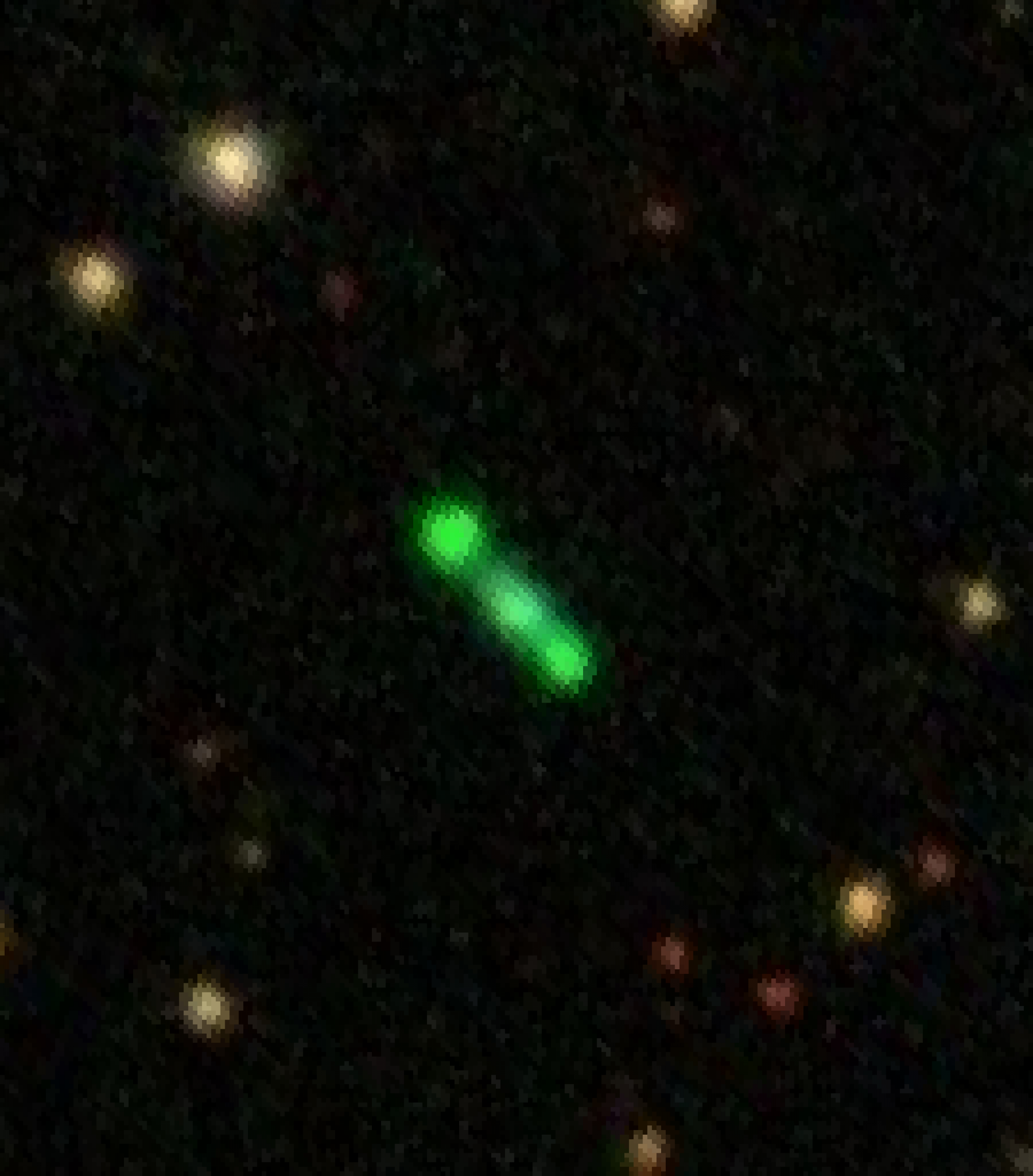 At 15,000 light-years, object K4-47 is about seven times farther away than the Twin Jet nebula, making it much more difficult to image. Based on what scientists have learned about K4-47 so far, it may have a similar structure of two lobes extending from t