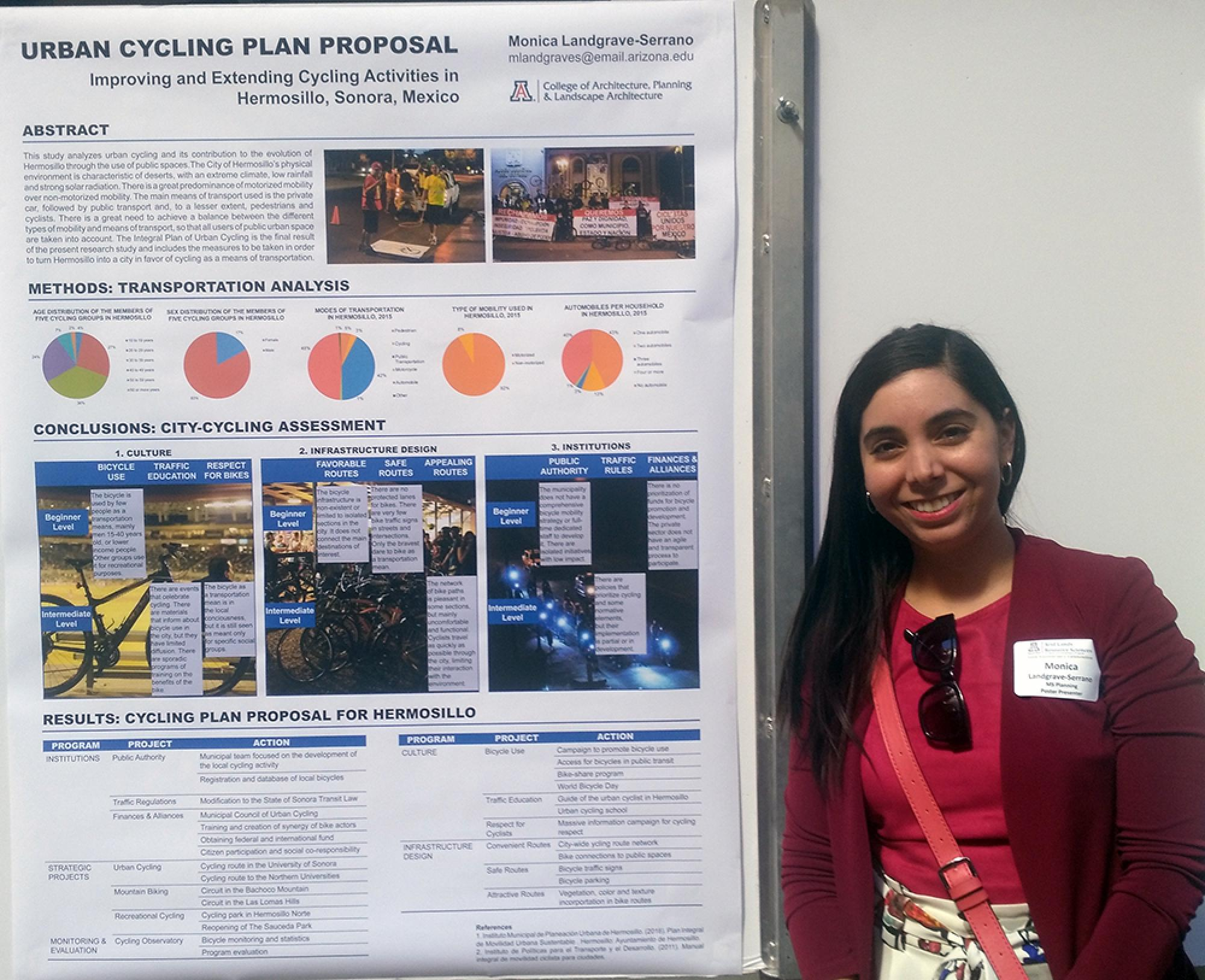 Landgrave-Serrano's experiences as a child in Hermosillo, Sonora, Mexico, prompted research she presented during a poster session at the UA.