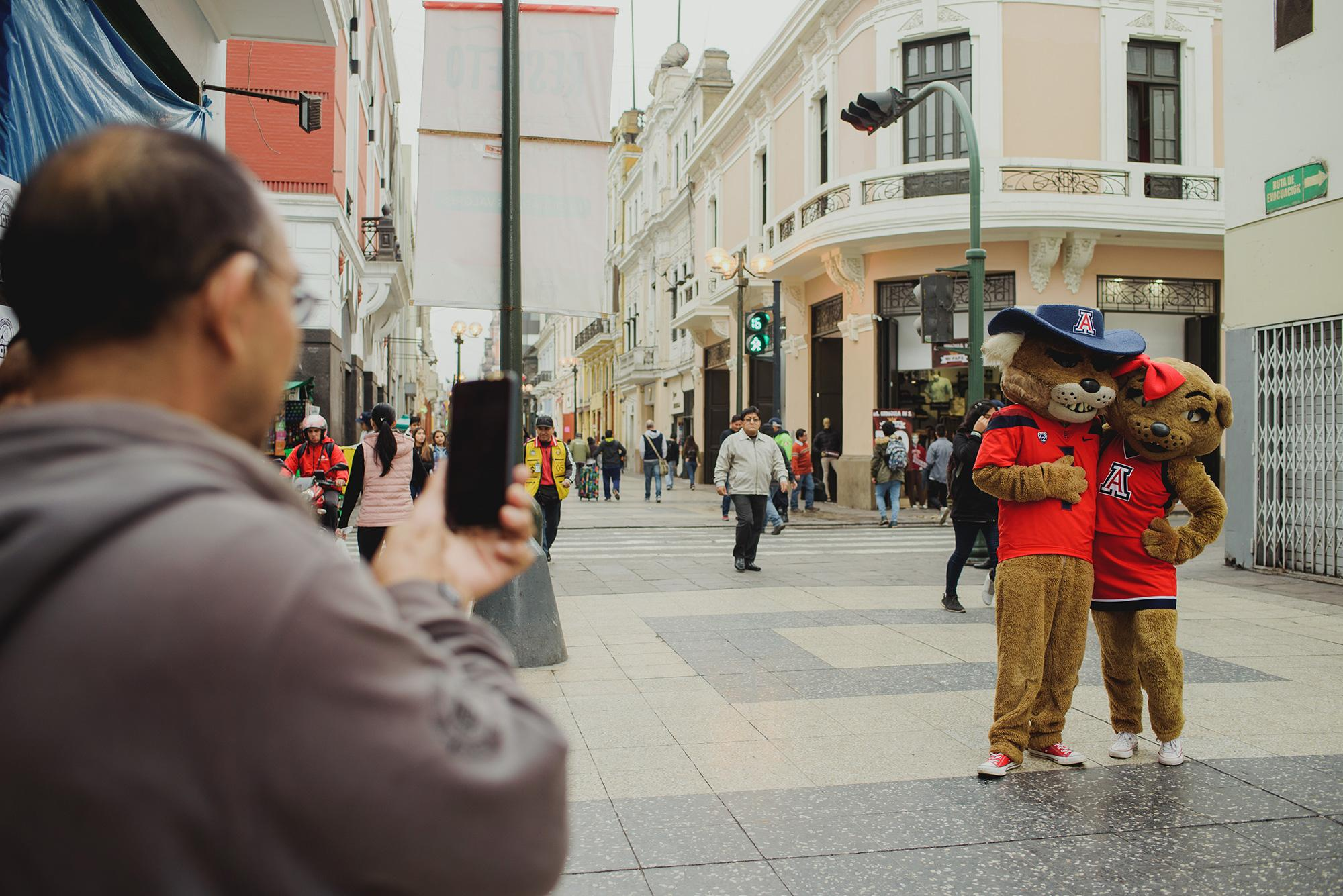 While visiting Peru for the micro-campus launch, Wilber and Wilma attracted a lot of attention as they strolled the streets of Lima.