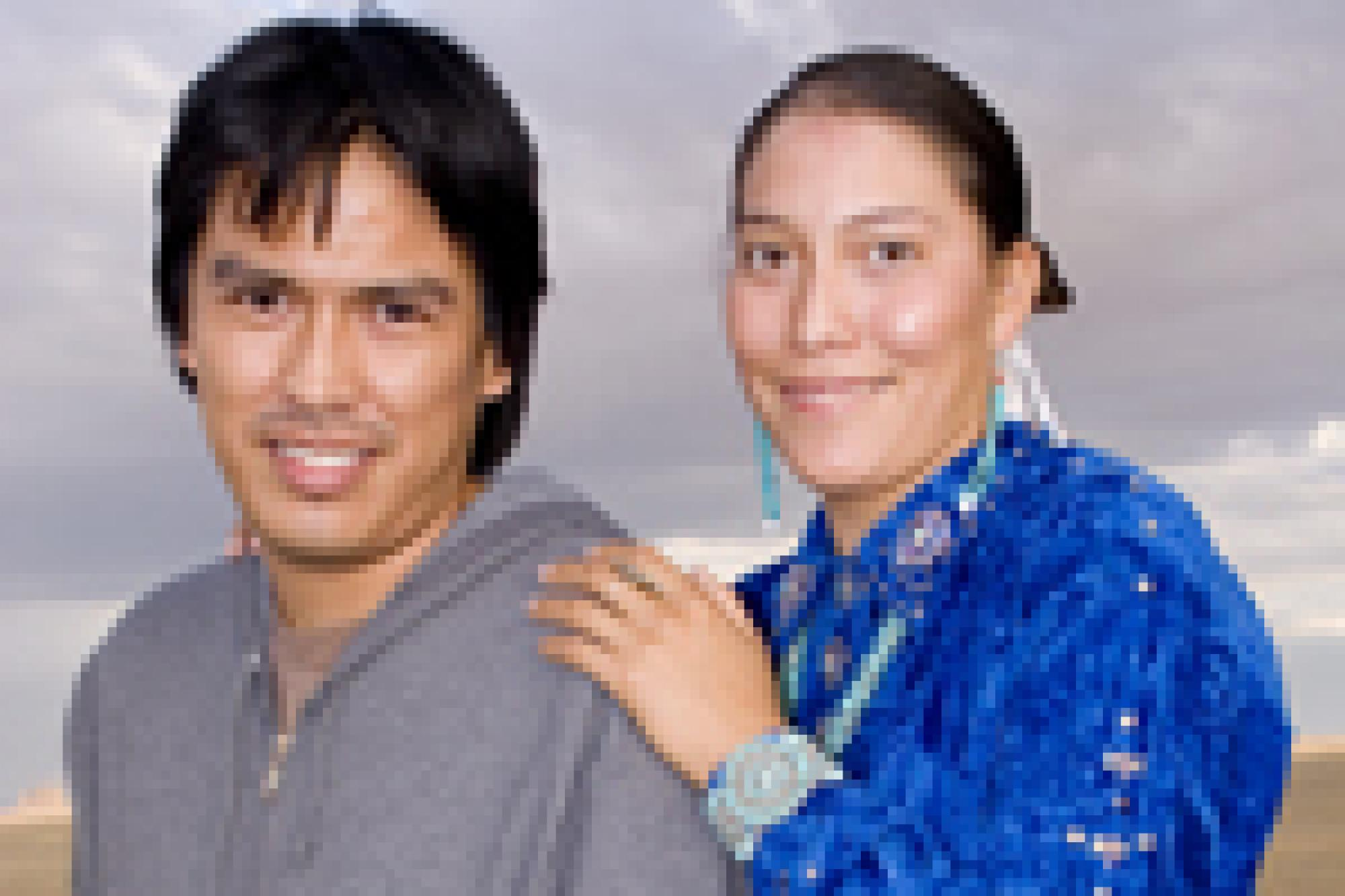 Director Billy Luther and Crystal Frazier, Miss Navajo pageant contestant