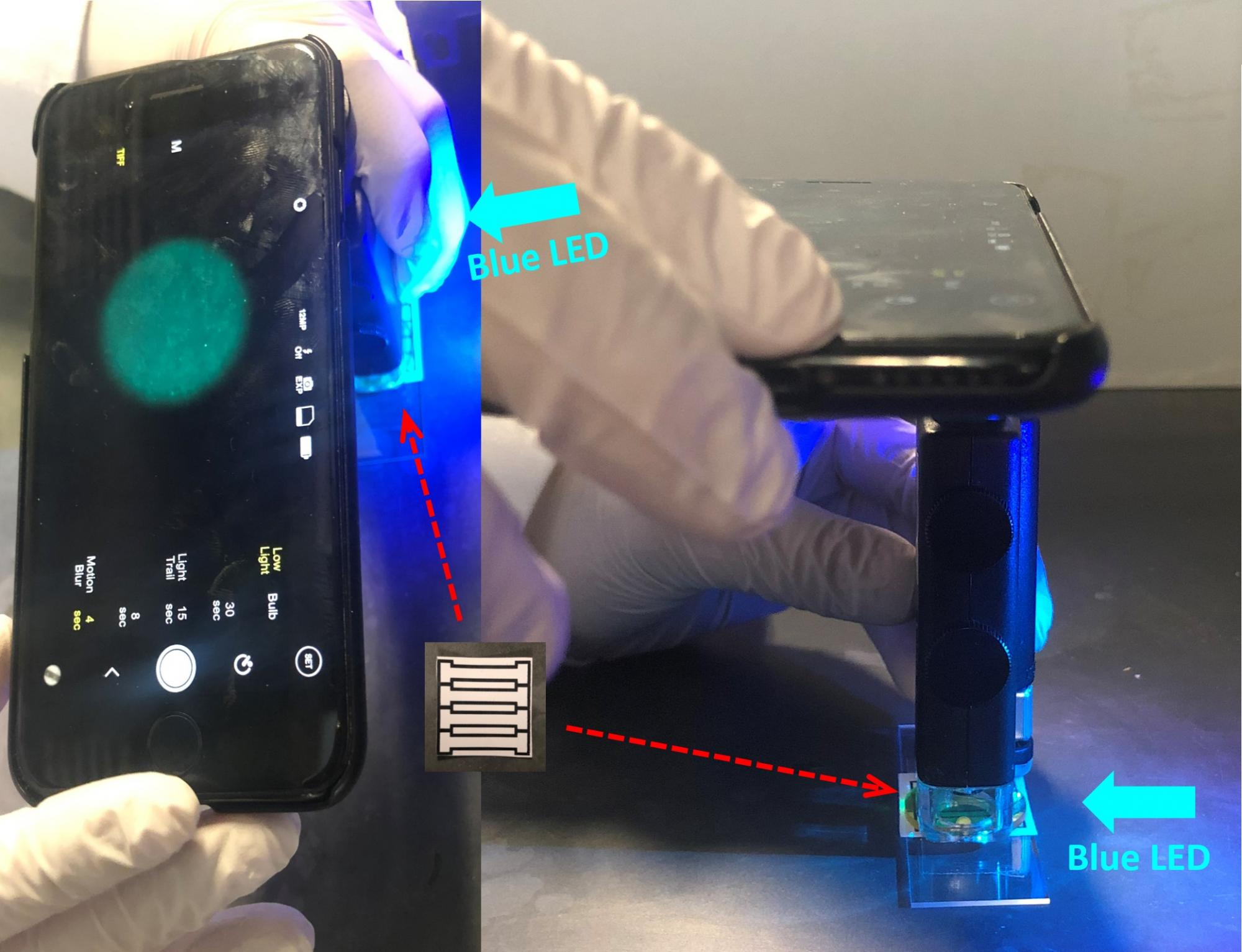 """""""You don't have to be a scientist or an engineer to run the device,"""" Yoon said. """"Analysis will be done automatically by the smartphone app, so all you have to worry about is loading a sample of water onto the chip."""""""
