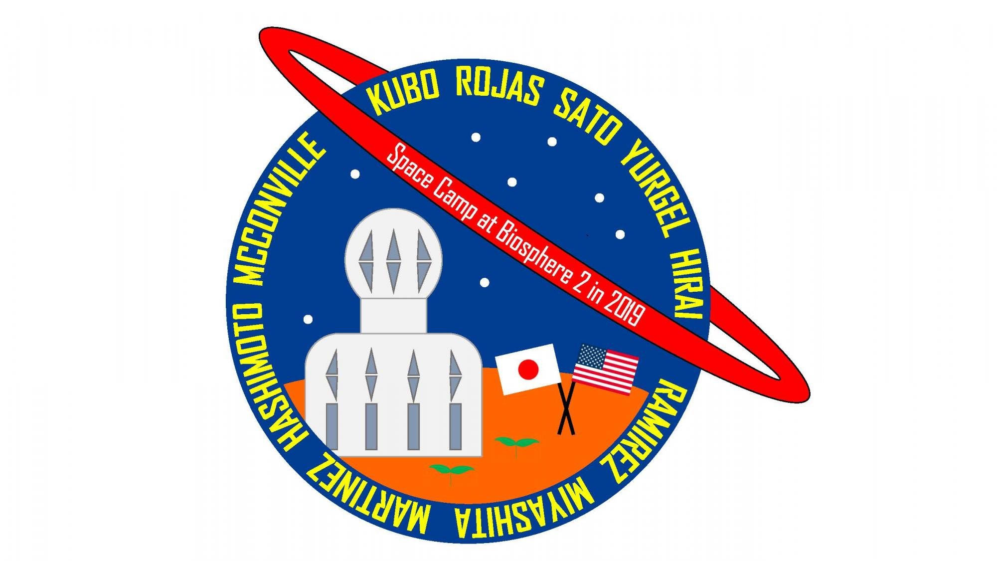 Space Camp at Biosphere 2 logo designed by Kyoto University students.