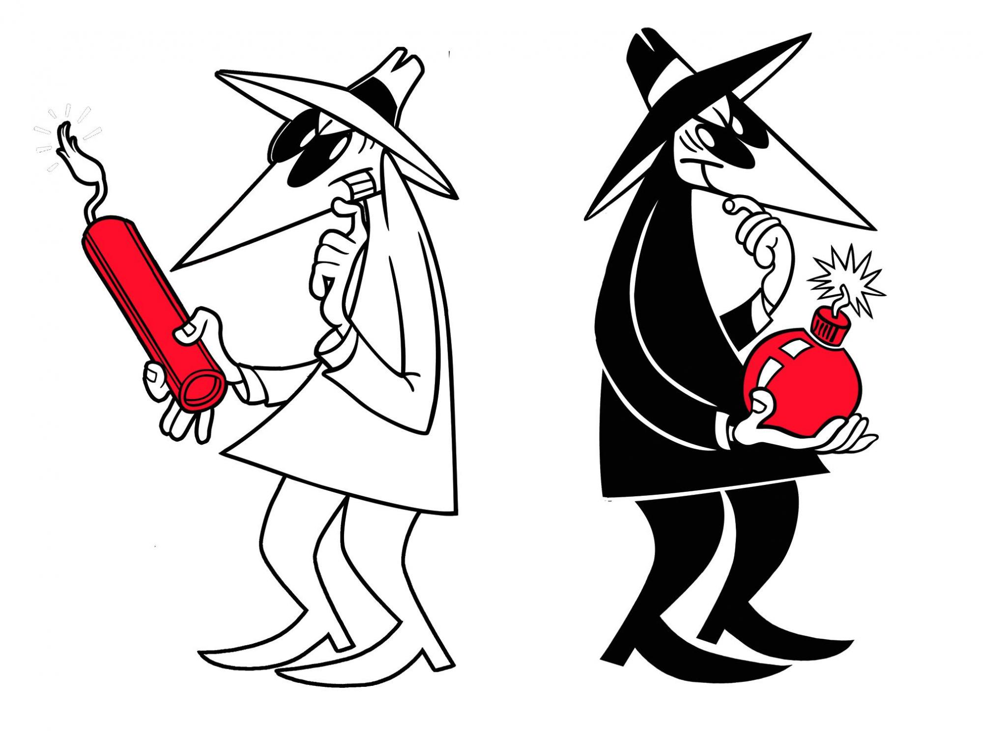 """Reminiscent of the characters in the popular comic strip """"Spy vs. Spy,"""" who spend all their time seeking ways of destroying each another instead of doing any actual spying, a few competing selfish individuals can benefit the greater community in evolution"""