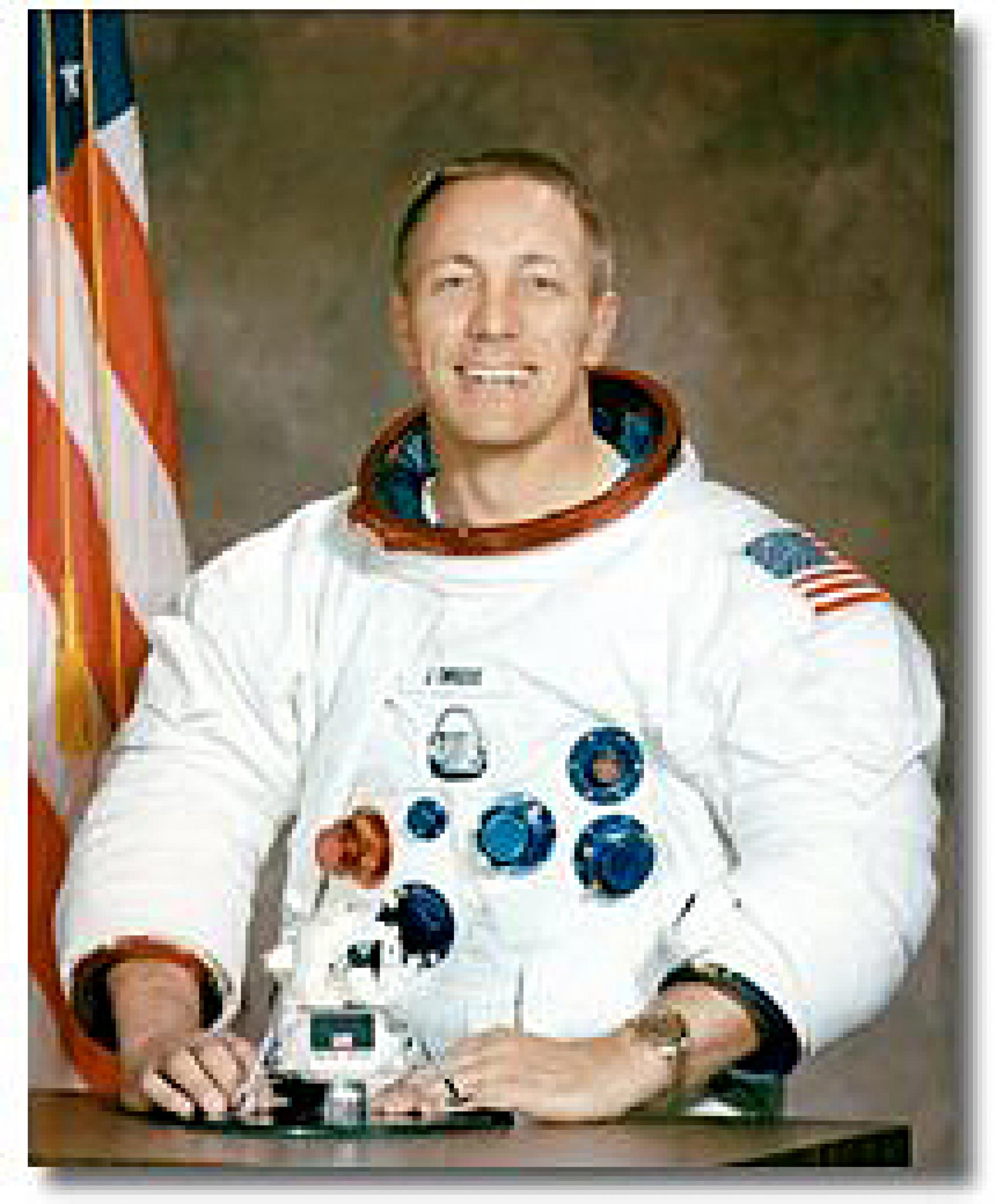 John L. 'Jack' Swigert Jr., command module pilot on Apollo 13.
