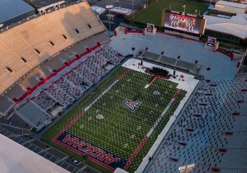 graduation in Arizona Stadium