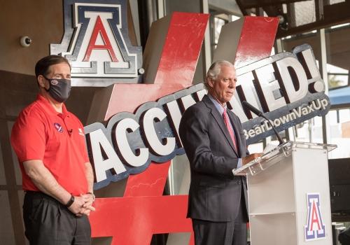President Robbins and Gov. Doug Ducey