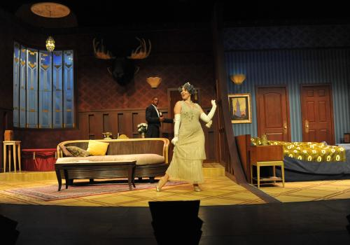 Julia  makes a dazzling entrance, evermore perplexing Saunders . The original play was nominated for an Olivier for Best Comedy of the Year.
