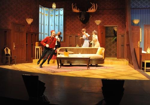 """Ken Ludwig's award-winning comedy farce, """"Lend Me a Tenor,"""" is playing at the UA through Oct. 12."""