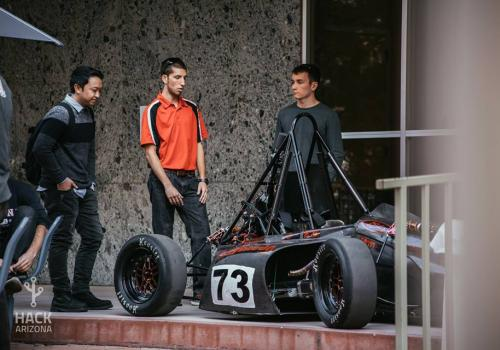 Wildcat Formula Racing was represented during Hack Arizona.
