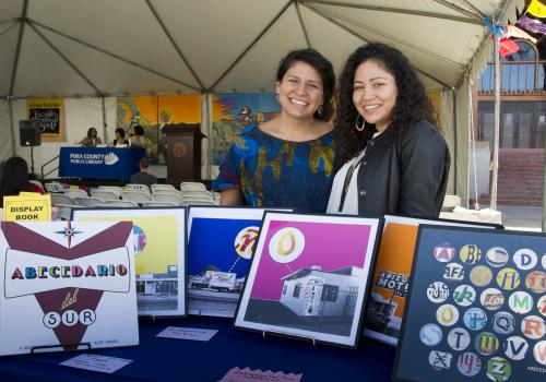 Graphic artist Alex Jimenez and her sister, author Sharayah Jimenez