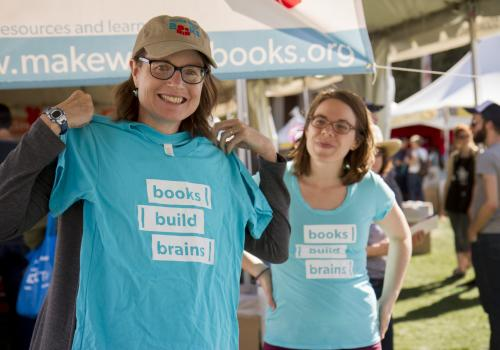 Jennifer Stewart and Melinda Englert of Tucson. Stewart is a board member of Make Way for Books.