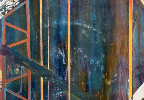 """""""Beyond the Thicket,"""" produced with acrylic by studio art graduate Jonathan Dobbs."""