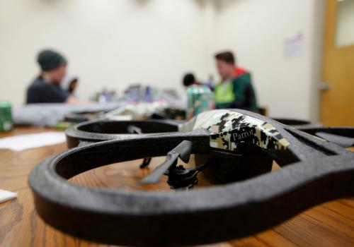 Raytheon provided drones to some Hack Arizona participants.