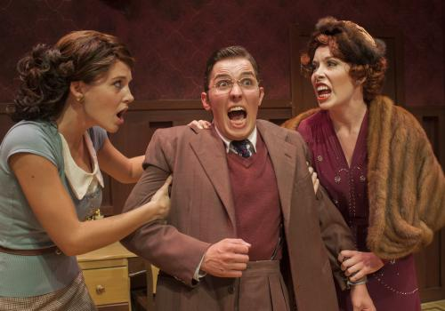 Maggie  and Diana  fight over Max  in the comedy farce.