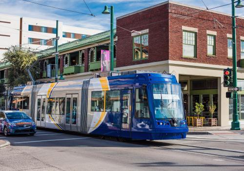 The Tucson streetcar runs through Tucson's downtown culinary hub.