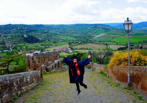 Hannah Weinsheink, who graduated from the UA in 2014 with a degree in literacy, learning and leadership, celebrates her last semester of college in Orvieto, Italy.