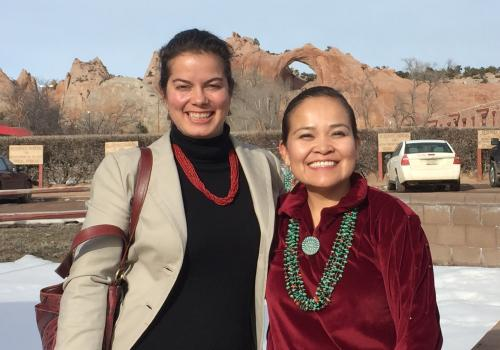 Paloma Beamer and Karletta Chief in Window Rock, Navajo Nation capital.