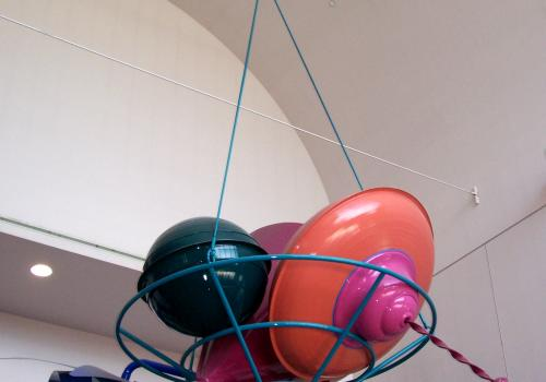 """Scott M. Wallace's """"Cornucopia"""" hangs in the lobby of the Student Recreation Center."""