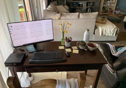 "Working from home is a much-appreciated precaution against the spread of illness, and it brings some interesting experiences to our work! This is uncharted territory for many of us, but as Dr. Silvertooth and Dean Burgess said: ""Do your best."" – Rhegan De"