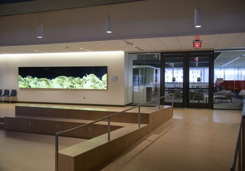The Faculty Commons features meeting spaces, newspapers and complimentary coffee, and will encourage interaction between faculty members from all corners of campus.