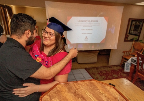Crystal Alyssia Raygoza, one of the 2020 Robie Gold Medal winners, is graduating with a Bachelor of Science in family studies and human development, with a minor in Spanish. She celebrated her College of Agriculture and Life Sciences convocation at home w