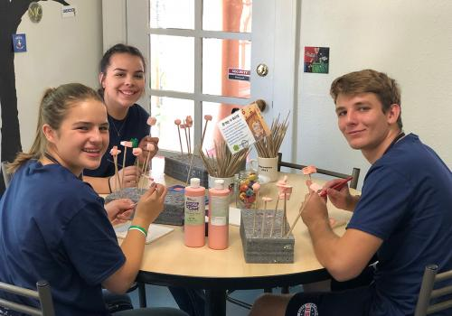 Several 4-H members helped make Ben's Bells – beautiful, ceramic wind chimes that are hung randomly throughout the community, in public spaces, for people to find and take home as a reminder to practice intentional kindness.