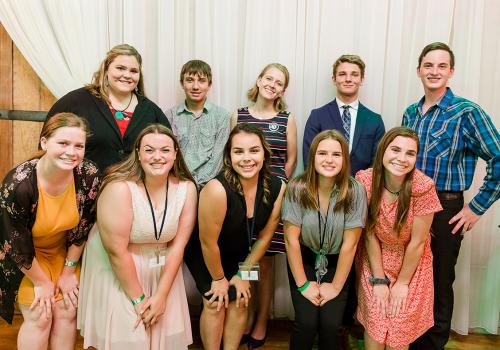 "The teen leadership team gathered for a photo before the ""Clover Ball,"" a formal dance that gave 4-Hers a chance to socialize, network and have fun."