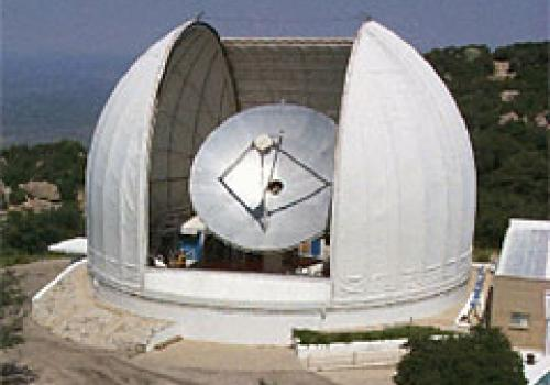 UA's Arizona Radio Observatory operates and maintains a 12-meter diameter telescope on Kitt Peak, 50 miles west-southwest of Tucson, Ariz., for astronomical observations at millimeter wavelengths.