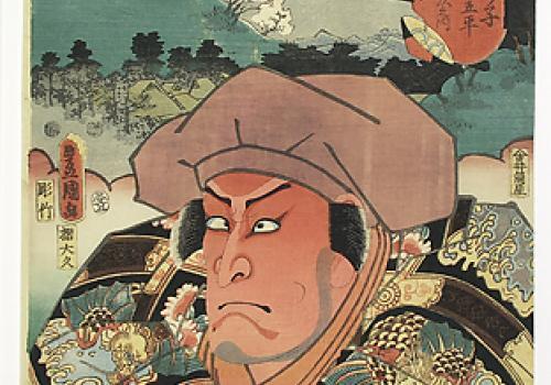 Toyohara Kunichika, Two Kabuki Actors, 1870s. UA Museum of Art Collections: Gift of Mr. and Mrs. John Murphey.