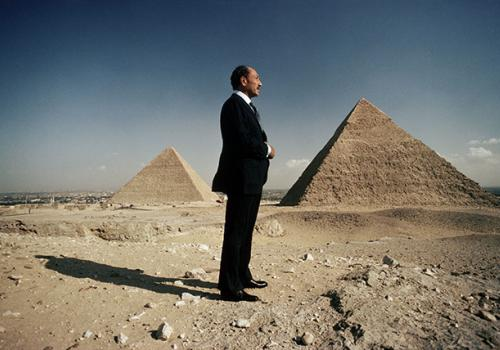 "Kennerly photographed then-Egyptian President Anwar Sadat in 1977 at the Pyramids of Giza for TIME's ""Man of the Year"" Issue."