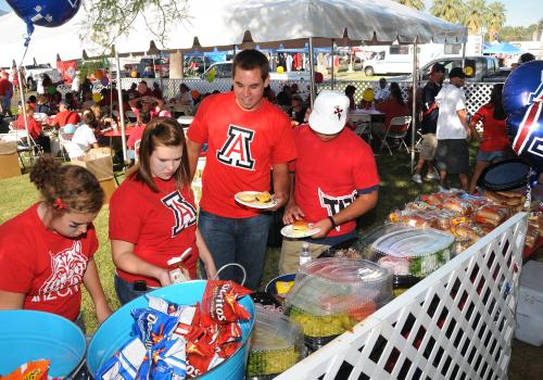 UA sustainability teams are ramping up education and diversion efforts during tailgating.