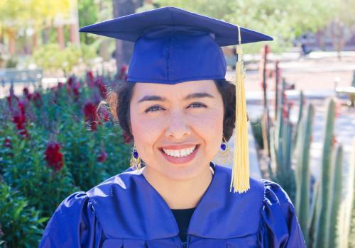 Alexandra Elvira Samarron Longorio said she was successful at the UA primarily because of the support of people like Velez.