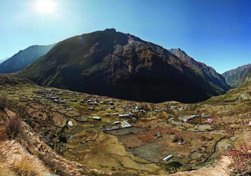 A 2012 photo of the village of Langtang