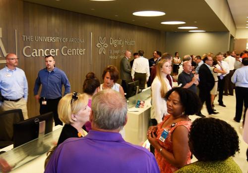 The lobby of the new University of Arizona Cancer Center at St. Joseph's Hospital.
