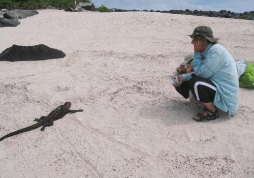 Carolyn Hollis, an elementary school teacher in Tucson, was among a group of more than one dozen students and educators to visit the Galápagos Islands this summer. The group returned this month.
