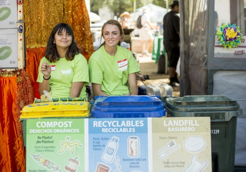 The UA Compost Cats help TMY divert nearly 50 percent of waste from the landfill through recycling and compost.