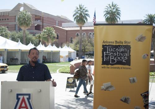 Tucson Mayor Jonathan Rothschild kicked off the Festival of Books by naming TC Tolbert  as Tucson poet laureate. Rothschild also announced a new book program launched in a partnership between the Arizona Daily Star and the city's Parks and Recreation Depa