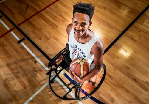 """Basketball became a form of mental therapy for Brewer, who says, """"If I felt stressed out or had too much going on in my life, I could silence it all by being in the gym by myself."""""""