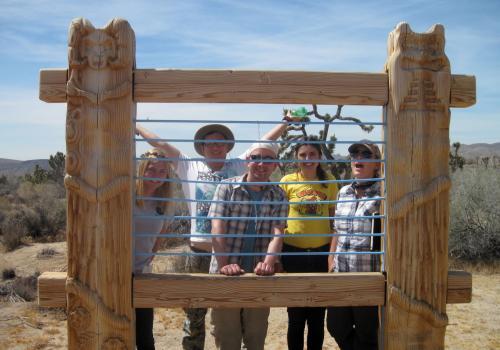 Class members visit the High Desert Test Sites near Joshua Tree National Park in California.