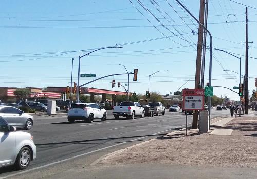 A Regional Transportation Authority sign at the intersection of First Avenue and Fort Lowell Road reminds motorists of impending construction along the north/south corridor. There is a chance that recommendations by UA graduate students will be part of th
