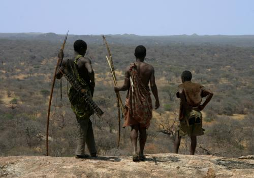 """One of the last hunter-gatherer tribes on Earth, the Hadza people of Tanzania still hunt on foot with traditional foraging methods. """"If you want to understand human hunter-gatherer movement, you have to work with a group like the Hadza,"""" said UA anthropol"""