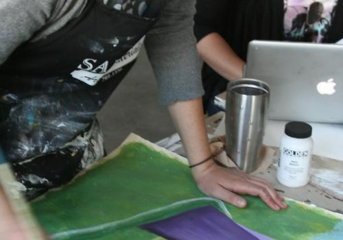 In the more expanded curriculum, UA School of Art students take three foundational courses, then choose an additional three classes to take. Above all, the program serve to ground students in traditional artistic skill and theory while also enabling them