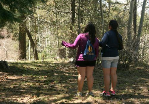 """In addition to visiting Mount Lemmon during their recent trip, the Walatowa High Charter School students also met with Native American Student Affairs staff and students and also engaged in a cultural exchange at the San Xavier del Bac Mission. """"It's bett"""