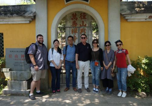 At Mount Jing Monastery with Professor Feng of Zhejiang University, UA professor Albert Welter and UA graduate students