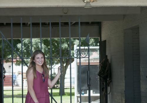 Jaclyn Cubillas' experiences at the Equine Center have changed her career goals as she graduates from the UA and looks toward veterinary school.