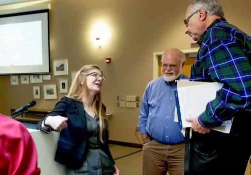 During her visit, Singer met with UA faculty members, learning ways that they are adopting active-learning strategies to improve student retention and success in STEM.