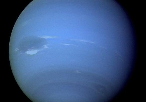 Neptune as seen by the Voyager 2 spacecraft in 1989.