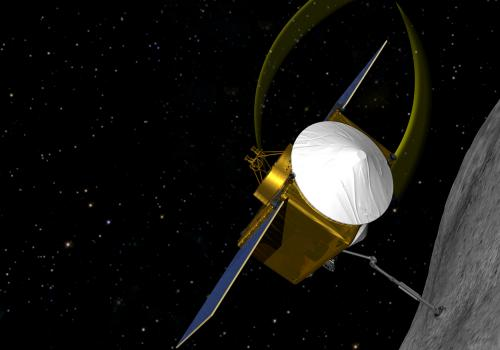 OSIRIS-REx will rendezvous with asteroid 1999 RQ36, extend a sample collecting device and return at least 60 grams  of pristine material to Earth for analysis.