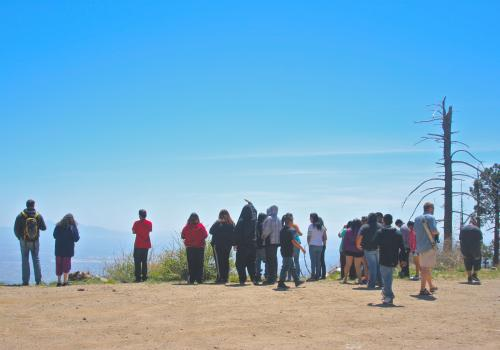 While at the UA, Walatowa High Charter School students and their educators learned about the history of UA fire ecology research in Arizona and their home communities in New Mexico. Part of the Jemez FHiRE Project, they also learned about the history of f
