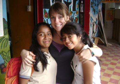 Chelsea Halstead volunteering with Los Patojos, an after-school program in Jocotenango, Guatemala.